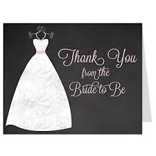 bridal shower thank you notes bridal shower thank you cards
