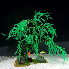 aquarium decorations newest silicone resin aquarium decoration willow tree decoration for