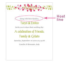 wedding invitation wording in wedding invitation wording the host line