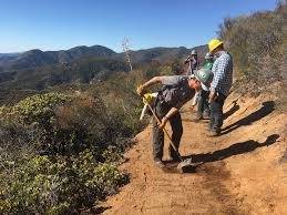 doing the work to reopen the pct in the powerhouse fire burn