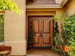 cool front doors door nice brown wood jen weld doors and outdoor potted plants for