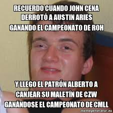 Memes De John Cena - meme stoner stanley recuerdo cuando john cena derrotó a austin