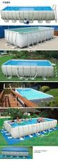 Intex Metal Frame Swimming Pools Best 25 Piscine Intex Rectangulaire Ideas Only On Pinterest