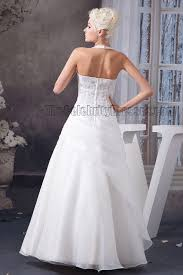 floor length halter a line wedding dress with a wrap