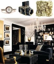 Black And Gold Living Room Furniture Black White And Gold Home Decor Black And Gold Living Room
