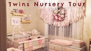 Pink Curtains For Nursery by Shabby Chic Nursery Tour Decoration Ideas For Twin U0027s Pink