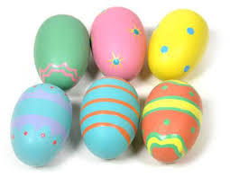 wooden easter eggs 1 dozen whimsical painted wooden easter eggs use as ornaments or