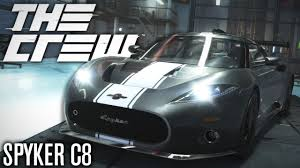 spyker the crew spyker c8 aileron performance customization youtube