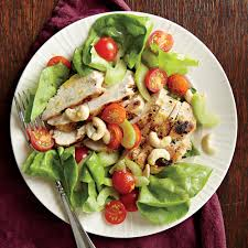 grilled chicken salad with orange vinaigrette recipe myrecipes