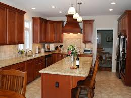 kitchen island granite countertop overhang design ideas zonaj co