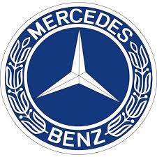 mercedes decal mercedes decal peel stick wreath blue and white logo