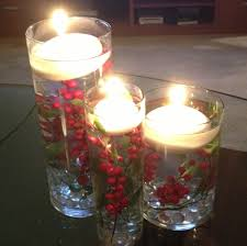 floating candle diy holiday centerpiece christmas holiday stuff