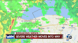 Weather Map New York by Breaking News Severe Weather Moves Into Western New York Youtube