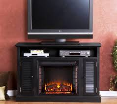 Electric Fireplace Media Center Electric Fireplace Tv Stand Black Home Fireplaces Firepits