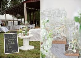 georgia barn wedding with vintage style decorations rustic
