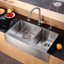 36 inch farmhouse sink kitchen kraus sinks khf203 36 36 inch farmhouse apron 60 40 double