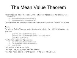 4 2 u2013 the mean value theorem ppt video online download