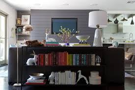 Bookshelf Behind Couch The Patels U0027 House Emily Henderson