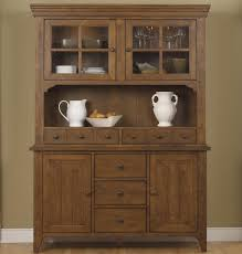 mission style buffet with china hutch by liberty furniture wolf