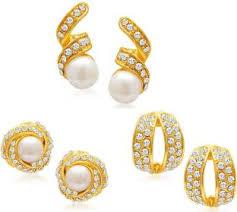 fashion earrings flipkart buy sukkhi set of 3 combo alloy earring set