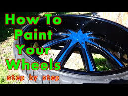 how to paint your car wheels a two tone color allkandy wet wet