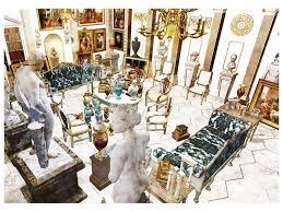 neoclassical interior vase room