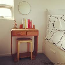 Small Vanity Table For Bedroom Project Bedside Vanity Table From Repurposed Objects Zoeathome Com