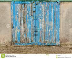 Painted Barn Doors by Old Blue Barn Door Stock Photo Image 58892276