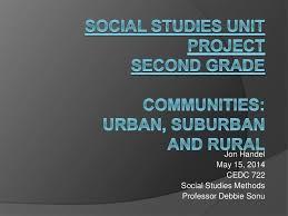 social studies unit communities urban suburban u0026 rural second u2026