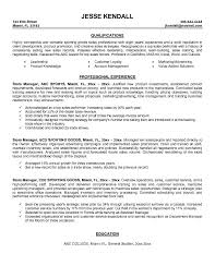 Sports Management Resume Samples by Job Resume Retail Manager Resume Examples Retail Manager Resume