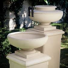 Pedestal Pots Archiped Classics Cast Stone Garden Ornaments Dallas Design