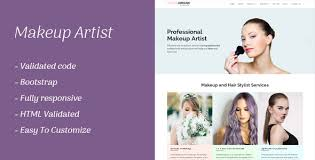 makeup artists websites makeup artist responsive template by smartpixelz themeforest