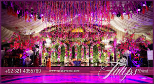 wedding stage decoration tulips event best wedding stage decoration flowering