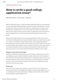 College Application Letter Uk How To Write College Admission Essay 盪 Writing A Professional