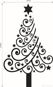 christmas tree black and white christmas lights decoration