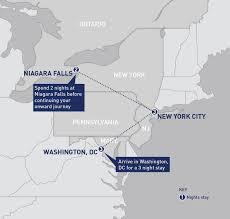 New York Washington Map by Washington New York And Niagara Falls Railbookers