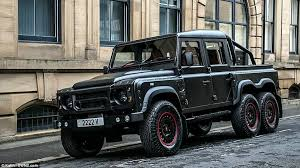 six wheel mercedes suv land rover defender challenged kahn designs 6 wheel for