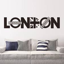 aliexpress com buy modern london words quotes wall sticker home aliexpress com buy modern london words quotes wall sticker home decor vinyl decals living room wall mural fashion wallpaper es 103 from reliable stickers