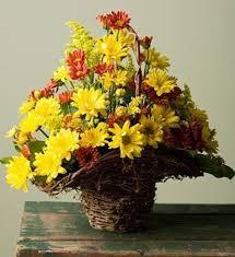 Banister Funeral Home In Dahlonega Ga Dahlonega Florist Basket Of Fall Daises