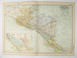 america map guatemala 1899 antique map central america map guatemala map honduras