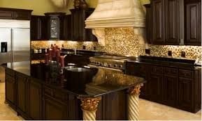 Backsplash For Black Granite by Love The Dark Granite Counters With The Dark Cabinets And Light