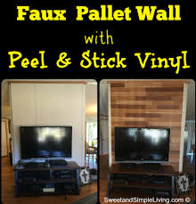 faux pallet walls adhesive vinyl and simple living