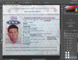 usa passport psd template passport pinterest psd templates