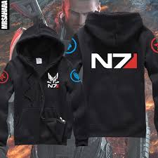 new mass effect 3 n7 paragon inspired man u0027s gamer zip up hoodie