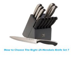 how to choose the right ja henckels knife set