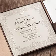classic wedding invitations wishmade 50pcs classic wedding invitation card kit with thank you