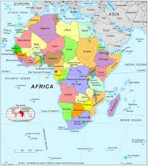 africa map atlas africa political map 2001 size