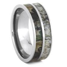 camo wedding rings for him and wedding ring set with moissanite and deer antler rings 3436