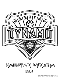 04 houston dynamo soccer futbol at coloring pages book for kids