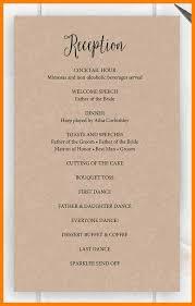 Wedding Reception Program Template 4 Program In Wedding Reception Target Cashier